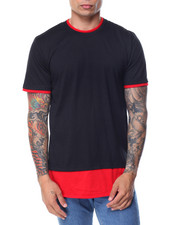 Men - Round - Bottom Contrast - Layer S/S Tee