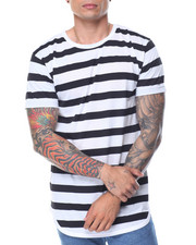 Men - Scallop - Bottom Striped S/S Tee