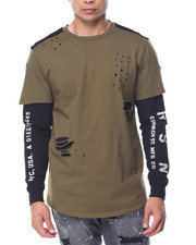 Men - LEXINGTON DISTRESSED DOUBLE LAYER TEE