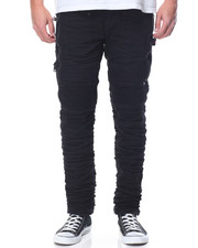 Jeans & Pants - Zipper Patch Denim Jean W/Crinkle Treatment