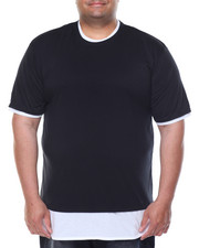 Big & Tall - Round - Bottom Contrast - Layer S/S Tee (B&T)-2086486