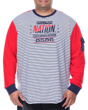 Men - L/S Striped T-Shirt (B&T)