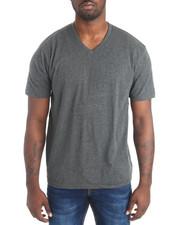 Stylist Picks - Basic Heathered V-Neck S/S Tee-2086607