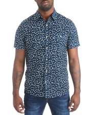 Button-downs - S/S Dolphin Print Buttondown Shirt