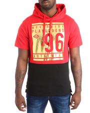 Shirts - Foil Print S/S Hoodie
