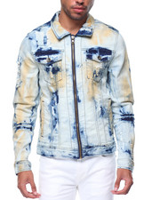 Denim Jackets - Color Tint Zipup Denim Jacket