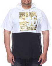 Men - Foil Print S/S Hoodie (B&T)