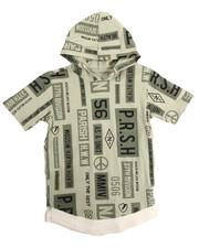 Boys - S/S PEACE OUT ALL OVER PRINT HOODED TEE (8-20)