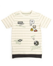 T-Shirts - PEACE OUT STRIPE TEE (2T-4T)