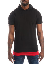 Men - Layered - Accent Hooded S/S Tee