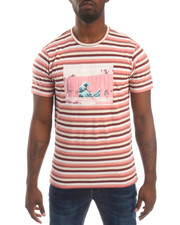 Pink Dolphin - SHADES OF STRIPE S/S TEE