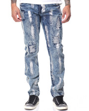 Jeans - Rigid Denim w Silver Brushstrokes