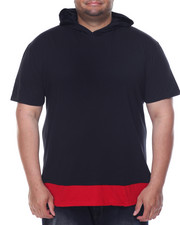 Men - Layered - Accent Hooded S/S Tee (B&T)