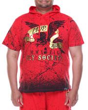 Flysociety - S/S Splatter Hoodie (B&T)