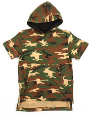 Akademiks - S/S ELONGATED CAMO HOODY (4-7)