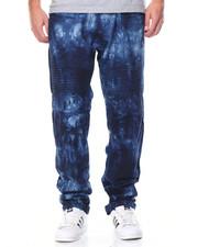 Men - Ombre Acid Washed Moto Denim Jeans