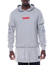 Well Established - FORCE LAYERED - SLEEVE EXTENDED PULLOVER HOODIE
