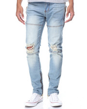 Well Established - Knee - Rip Leg - Zip Denim Jeans