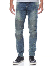 Well Established - Nouveau - Moto Splattered Denim Jeans