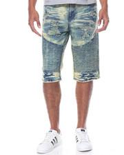 Basic Essentials - Rigid Moto Denim Shorts
