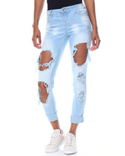 Fashion Lab - Blow Out Destructed Roll Cuff Skinny Jean
