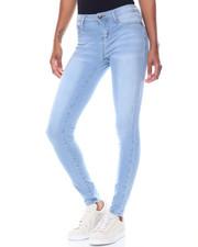 Women - Knit Denim Whiskers Skinny Jean