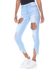 Jeans - Blow Out Destruction Novelty Hem Skinny Jean