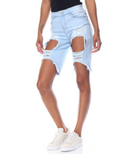 Jeans - Blow Out Destructed Ice Wash Bermuda