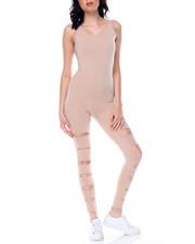 Jumpsuits - Slit Leg Catsuit