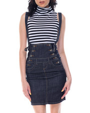 Boom Boom Jeans - High Waisted Overall Denim Pencil Skirt