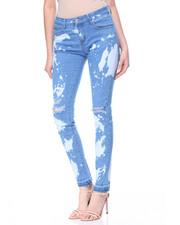 Women - Bleach Rips & Spots Skinny Jean