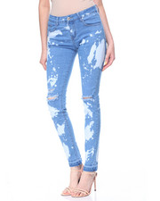 Fashion Lab - Bleach Rips & Spots Skinny Jean