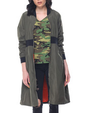 Fashion Lab - Oversized Long Bomber Jacket