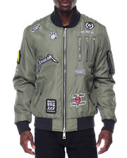 Outerwear - Zipper Aviator Bomber
