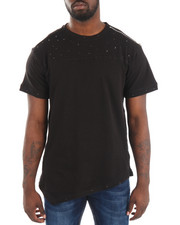 Shirts - S/S Distressed Asymmetrical Tee