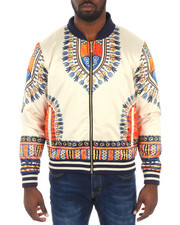 The Classic Bomber Jacket - Oakbay Dashiki Satin Bomber Jacket