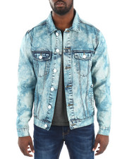 Denim Jackets - GREASER DENIM MARBLIZED JAKET