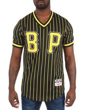 Men - B P Pinstripe S/S Baseball - Style Jersey