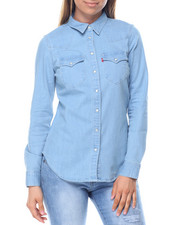 Tops - Tailored Classic Westen Denim Shirt