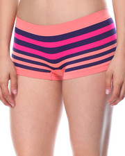 Sets - Love Cut Outs/Floral Stripe Seamless 3Pk Shorts