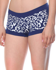 Sets - Animal Foil Print/Cut Out Sides  Seamless 3Pk Shorts