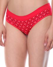DRJ Lingerie Shoppe - Heart Print Seamless 3Pk Bikinis