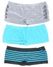 Intimates & Sleepwear - Hottie Cut Out/Stripe/Solid  3Pk Seamless Shorts (Plus)