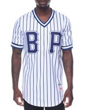 Shirts - B P Pinstripe S/S Baseball - Style Jersey
