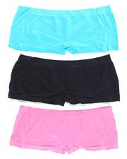 DRJ Lingerie Shoppe - Taken Sequin Trim 3Pk Seamless Shorts (Plus)