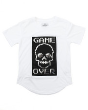 Tops - ELONGATED GAME OVER FOIL TEE (8-20)