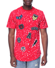 Men - Military Splatter Patch Scallop Tee