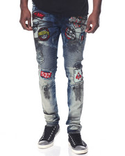 Jeans & Pants - Patch Moto Denim