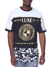 T-Shirts - Luxe Medusa Foil Scallop Tee