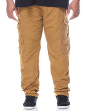 Big & Tall - Washed Twill Belted Cargo Pants (B&T)